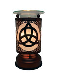 Celtic Knot Aroma Lamp when on