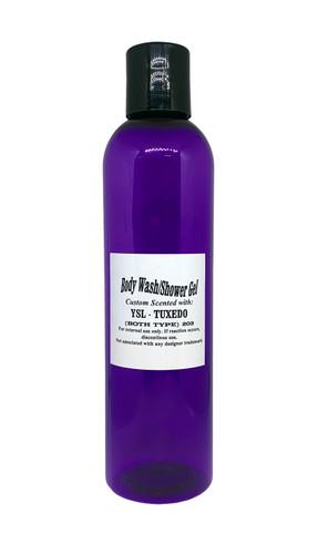 8oz Shower Gel in a Purple PET Bottle