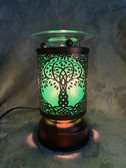 Green Tree of Life Lamp On
