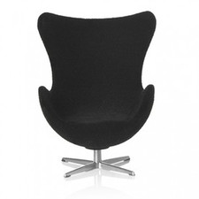 AJ Egg chair, black 1:16 minimii