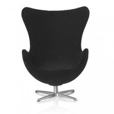 AJ Egg chair, black 1:16 minimii