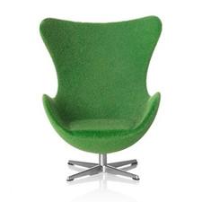 AJ Egg chair, green 1:16 minimii