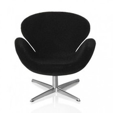 AJ Swan chair, black 1:16 minimii