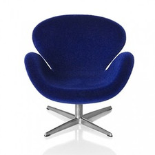 AJ Swan chair, dark blue 1:16 minimii