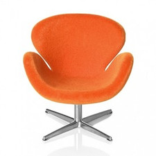 AJ Swan chair, orange 1:16 minimii