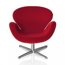 AJ Swan chair, red 1:16 minimii