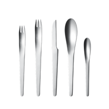 Georg Jensen Arne Jacobsen, 5pcs Cutlery Steel mat.
