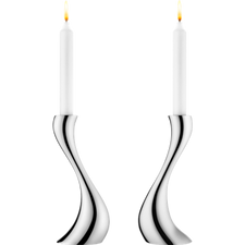 Georg Jensen Cobra 2pcs Candleholder, Medium