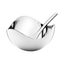 Georg jensen Bloom Salt Cellar & Spoon SS