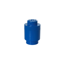 LEGO Storage Brick 1 Round BLUE