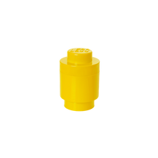 LEGO Storage Brick 1 Round YELLOW