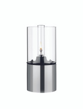 Stelton EM oil lamp, clear glass shade, 7.1 x 3.4 in. (US)