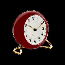 """Rosendahl Arne Jacobsen Station Table Alarm Clock, Red/Gold, 4.3"""""""