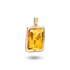 House of Amber - Infinity PENDANT 14 KT 30x22 SQUARE