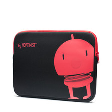 Hoptimist - Ipad Sleeve, Black/Red