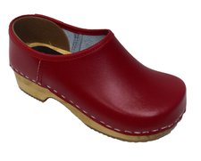 Danish Clogs - Euro-Dan, Kids, Closed heel, Red