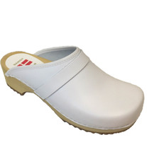 Danish Clogs - Euro-Dan, Open heel, White
