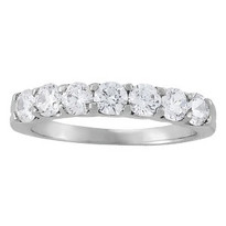 14k White Gold Diamond Prong Set Wedding Band (.75ct t.w apx.)