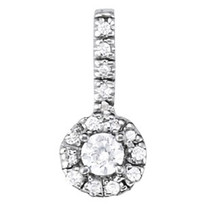 1.00CT T.W. apx. Diamond Halo Pendant set in 14k White Gold