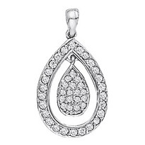 .29ct Diamond Cluster Pendant set in 14k White Gold