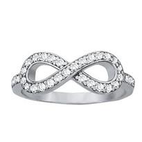 Infinity Diamond Ring Set in 14k White Gold (.40ct)