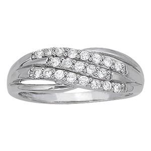 Diamond White Usa >> Diamond 3 Row Fashion Ring Set In 14k White Gold 26ct Usa Studs