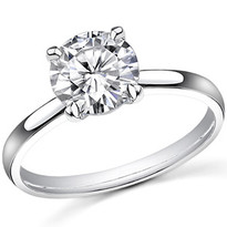 14k Gold Diamond Solitaire Engagement Ring .33ct (1/3ct)