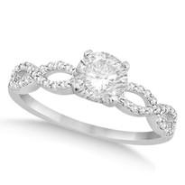 14k White Gold Infinity Round Diamond Engagement Ring 1.00CT