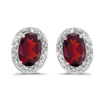 14k White Gold Ruby and Diamond Earrings  (1.20ct)