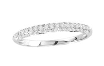14k White Gold Wedding Band .25CT t.w (1/4ct)
