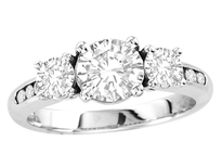 14k White Gold Round Diamond Engagement Ring 1.58ct t.w