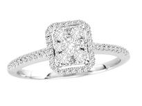 14k White Gold Diamond Engagement Ring .40ct t.w