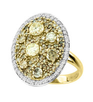 """Ilano Collection"" 18k Yellow Gold Diamond on Diamond Ring (2.65ct t.w)"