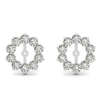 14k White Gold 2.00ct t.w Diamond Earring Jackets
