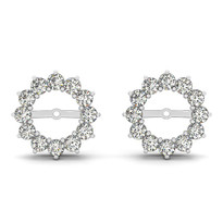 14k White Gold .84ct t.w Diamond Jackets