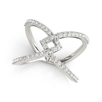 .50ct t.w14K WHITE GOLD  DIAMOND FASHION RING