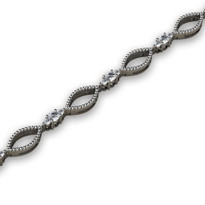 1.12ct t.w Round Diamond  Fashion Bracelet in 14k White Gold