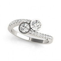 2-Stone Bezel set Engagement Ring       (1/4ctw - 1 1/5ctw)