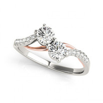 2-stone Round Diamond Engagement ring in 14k Two-Tone Gold (2/5ctw - 1 1/10ctw)