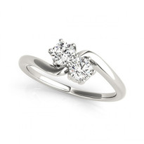 2-Stone Double Solitaire Engagement 6-Prong Ring in 14k White Gold (1/4ct - 1.00ct)