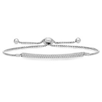 Double-Row Adjustable Diamond Bracelet in 14K White Gold (1/2ct)