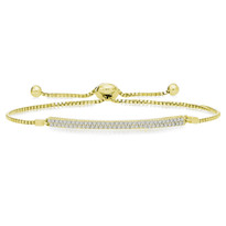 """One-Size-Fits-All"" Double-Row Adjustable Diamond Bracelet in 14K Yellow Gold (1/2ct)"