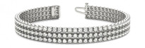 Triple-Row Diamond Tennis Bracelet in 14k White Gold (3.72ctw)