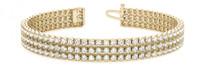 Triple-Row Diamond Tennis Bracelet in 14k Yellow Gold (3.72ctw)