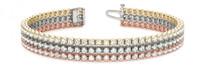 Copy of Triple-Row Diamond Tennis Bracelet in 14k Multi-Color Gold (3.72ctw)