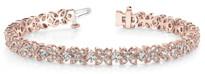 Fancy-Flower Fashion Diamond Bracelet in 14k Rose Gold (3.15ctw)