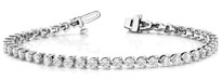 3CT DIAMONDS BRACELET SET 3PRONG AND 14K WHITE GOLD