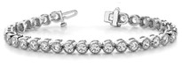 1CT DIAMONDS BRACELETS ROUND SETTING