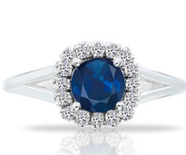 Sapphire and Diamond ring set in 14k