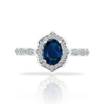 14k Sapphire&Diamond ring